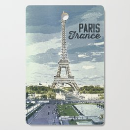 Paris, France / Vintage style poster Cutting Board