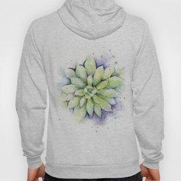 Watercolor Succulent Hoody