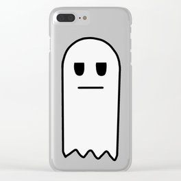 Meh, the Apathetic Ghost Clear iPhone Case