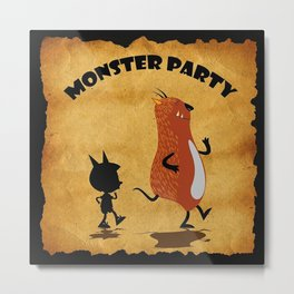 Monster Party Old Poster  Metal Print