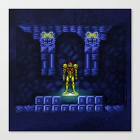 metroid Canvas Prints featuring Metroid by likelikes
