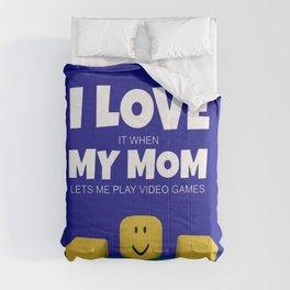 Roblox NOOB I Love My Mom Comforters