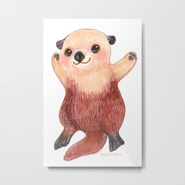 Otterly Adorable Otter Metal Print