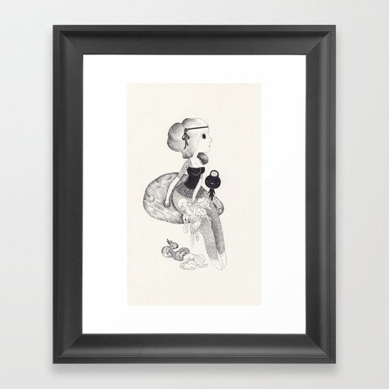 la petite maladie Framed Art Print