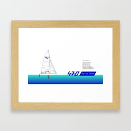 470 Olympic Sailing Framed Art Print