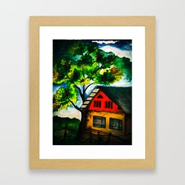 Into the woods! Framed Art Print
