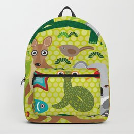 Animals Australia snake, turtle, crocodile, alliagtor, kangaroo, dingo Backpack
