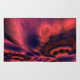 Lowering Raspberry Sky (3D Digital Fractal Art) Rug