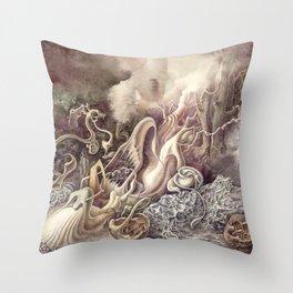 SURREAL COMPOSITION (AQUARELLE)  Throw Pillow