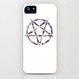 Floral Pentagram iPhone Case
