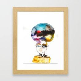 Bubblehead Framed Art Print