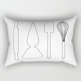 Baker Baking Tools - White Rectangular Pillow