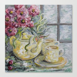 Morning Tea for Two Canvas Print