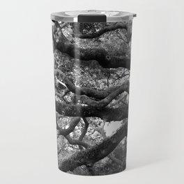 Live Oak Tree - black and white Travel Mug