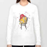 selena gomez Long Sleeve T-shirts featuring selena by Laurie Art Gallery