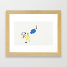 Hello Woman Framed Art Print