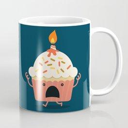 Cupcake on fire Coffee Mug