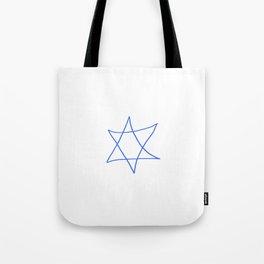 Star of David 18- Jerusalem -יְרוּשָׁלַיִם,israel,hebrew,judaism,jew,david,magen david Tote Bag