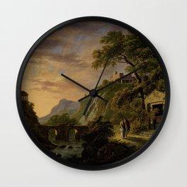 Arcadisch landschap met ondergaande zon, Daniël Dupré, Daniël Dupré, 1792 - 1809 Wall Clock