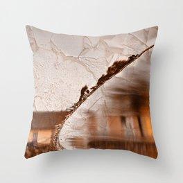 Stream of Peeling Dreams Throw Pillow
