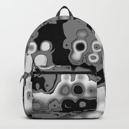 Black, grey and white Backpack