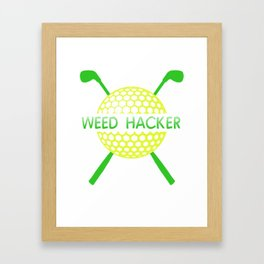 Funny Golf Weed Hacker Ball Golf Clubs Framed Art Print