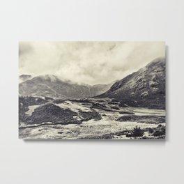 Mono Toned Lake District Metal Print