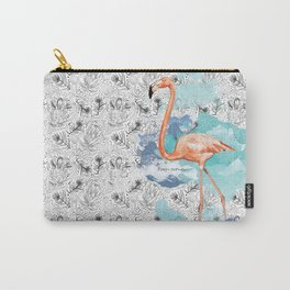 Fabulous Flamingo Carry-All Pouch