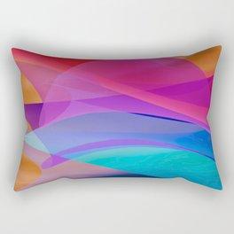 bicubic waves Rectangular Pillow