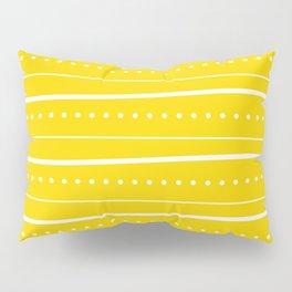 Yellow dot stripe Pillow Sham