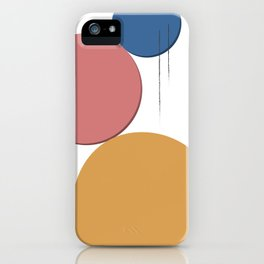 Stones and lines with pink iPhone Case