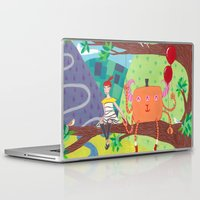 best friends Laptop & iPad Skins featuring Best Friends by Fran Court
