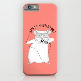 Hamster singing Hamster Time | Red iPhone Case