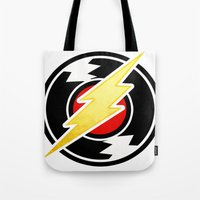 homestuck Tote Bags featuring flash/homestuck by scubaduval