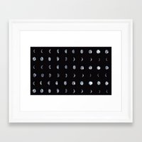 moon phase Framed Art Prints featuring Moon Phase by Gracie Chai