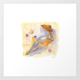 Old Shell Watercolor Art Print