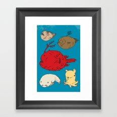 Creatures of the Deep Framed Art Print