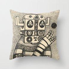 Dream of Blue Planet Throw Pillow