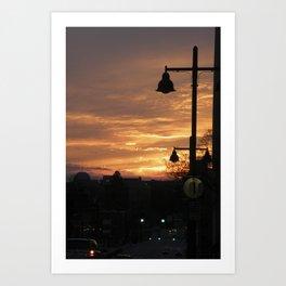 the volcano evenings Art Print