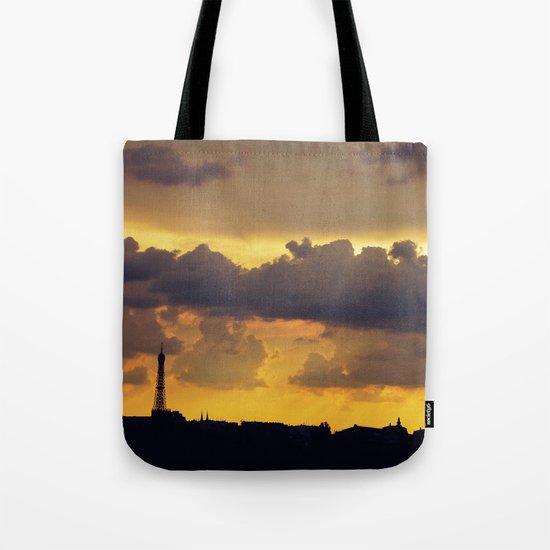 Sunset over Paris Tote Bag