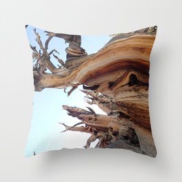 Trees twisting in the wind Throw Pillow