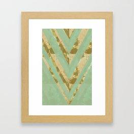 blooming chevron Framed Art Print