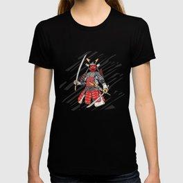 Japanese samurai warrior illustration T-shirt