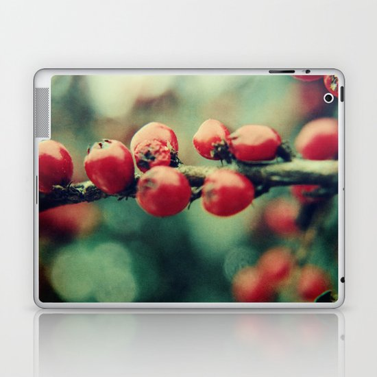 Red Winter Berries Laptop & iPad Skin