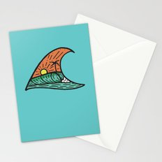 Wave in a Wave - Teal Stationery Cards