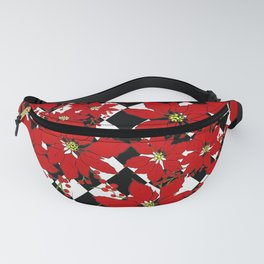 HARLEQUIN AND POINSETTIAS Fanny Pack