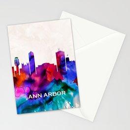 Ann Arbor Skyline Stationery Cards