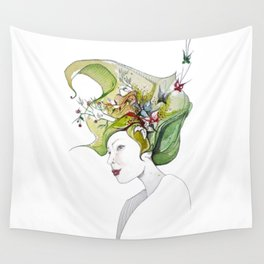 spring lady Wall Tapestry