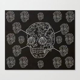 Skull Web Canvas Print