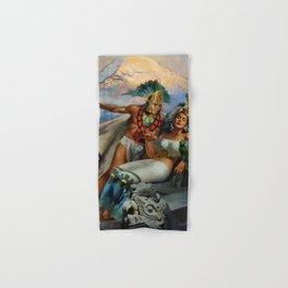 Caballero Aztec Warrior and Queen Mexican Yucatan romantic portrait painting Hand & Bath Towel